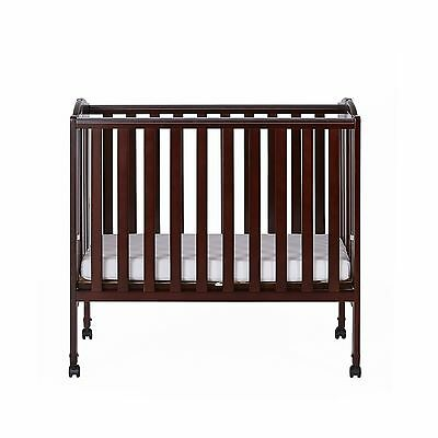 Dream On Me 2 in 1 Portable Folding Stationary Side Crib Espresso