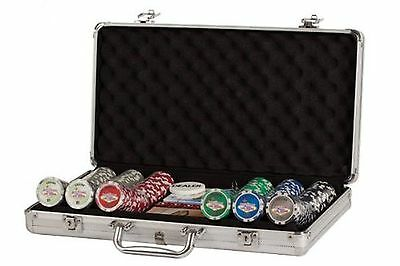 Poker Set In Aluminum Case With 300 (11.5 Gram) Las Vegas Style Chips