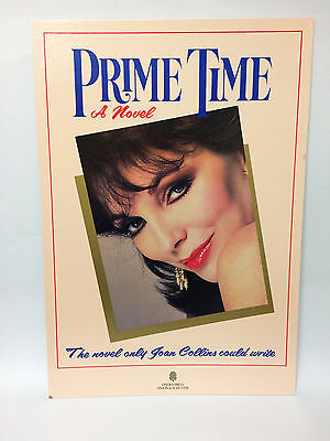 JOAN COLLINS - RARE Shop Display Standee For US Edition Of PRIME TIME 1988