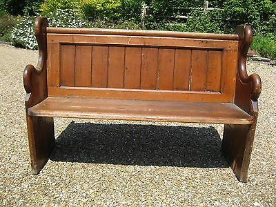 131 cm OLD CHURCH PEW. Delivery poss. ALSO MORE PEWS, CHAPEL CHAIRS & BENCHES.