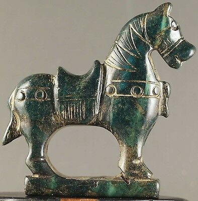 Chinese old natural jade hand-carved horse statue zodiac  NO.Y1014