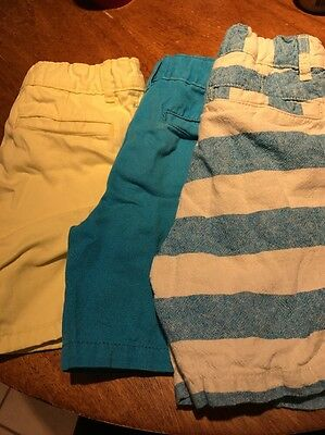 Lot Of Children's Place Boys Shorts Size 4T Blue Yellow Striped