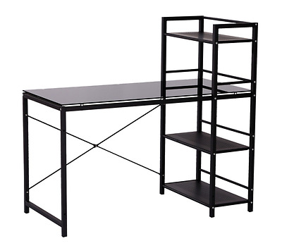 "Multi Shelf Tower Computer Desk Home Office Storage Workstation 50"" Black New"