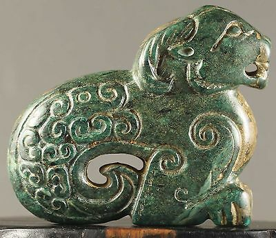 Old Chinese natural jade hand-carved statue of sheep  NO.Y1024