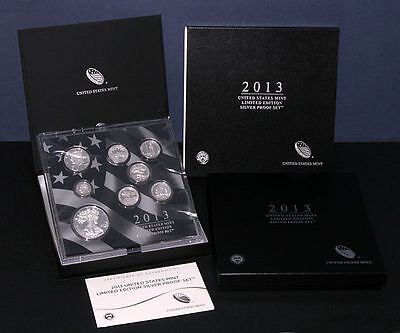 2013 United States US Mint Limited Edition Silver Proof Set *** FREE SHIPPING!