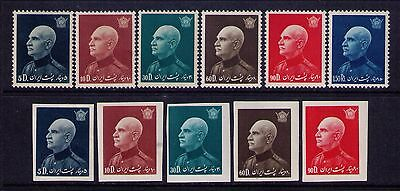 PERSIA 1939 REZA SHAH SC. 870A-F +IMPERF Short set MH/MLH