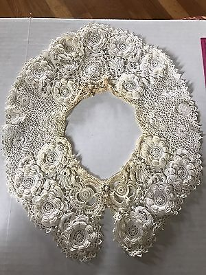 Antique Irish Lace Collar Vintage Pre Owned