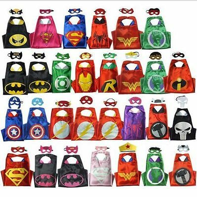 Adult Superhero Cape (1 cape+1 mask) for kids birthday party favors and ideas