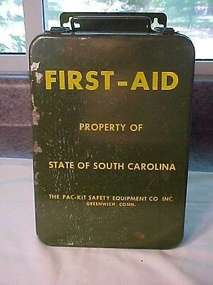 Vintage First Aid Kit, Property of South Carolina Unused Contents