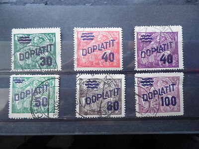 Czechoslovakia ~ 1926 Postage Dues ~ Set of 6