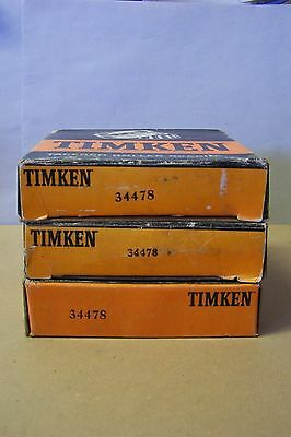 Timken 34478 Tapered Roller Bearing Cup (Lot of 3), New