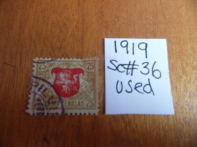 Lithuania ~ Sc#36 ~ (Used)  ~ (1919) ~ Lot 2