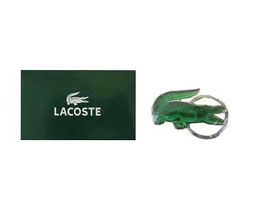 Lacoste Green Crocodile Keyring Keychain (New In Plastic) with Box