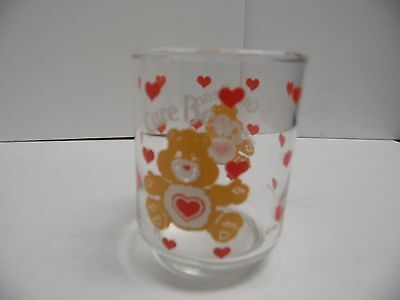 Vintage Care Bears Character Drinking Glass American Greetings 1984