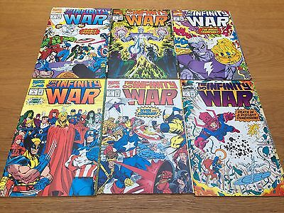 The Infinity War #1 #2 #3 #4 #5 #6 Marvel Comics First Print