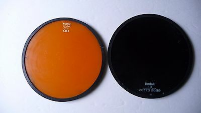Kodak 5 1/2 inch Safelight Filters-2  Kodak#13 and OO safe light