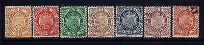 BOLIVIA Classic Stamps Sc # 40-46 Used Cat.$38