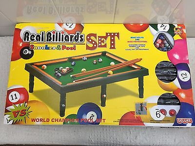 Large Snooker and Pool Table Professional World Champion Complete Set for Kids