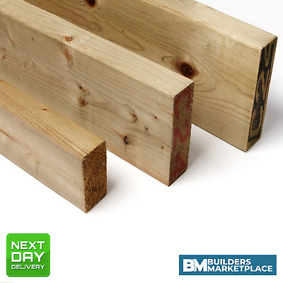 Treated Timber 6x2 Tanalised Pressure Treated Timber C16 C24 47mm x 150mm