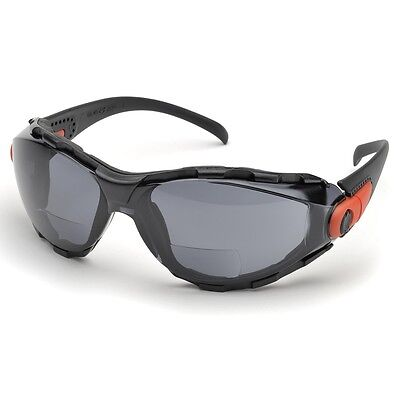 Elvex Bifocal Safety Glasses with 2.5 Gray Anti-fog Lens, Foam Lined Frame
