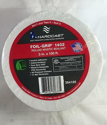 "NEW 1 Roll Hardcast Carlisle Foil Grip 1402 Rolled Mastic Sealant Tape 3"" x 100'"