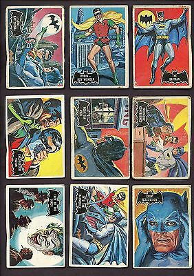 1966 OPC Canada Batman Black Bat Complete Set of 55
