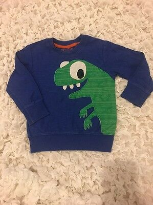 Next Boys Lizard Top Sweatshirt Age 12-18 Months Great Condition