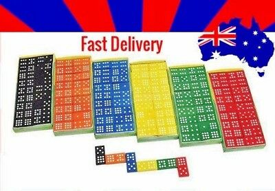 Learning Resource  Dominoes Wooden 9 x 9  Pieces: 6 Assorted Colours Maths