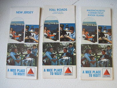 Collection Of 3 Vintage Citgo Road Maps...