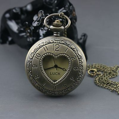 Chinese Silver Handmade Exquisite Heart-shaped Pocket watch