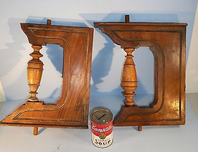 (2) Qty.Vintage~Antique~ CORBELS / BRACKETS~Hardwood for restoration