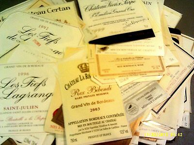 180 different labels BORDEAUX AOCs Lot C-19B (see list)