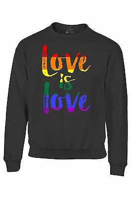 Love is Love Youth Crewneck Gay Pride Rainbow Equal Rights LGBT Sweatshirts