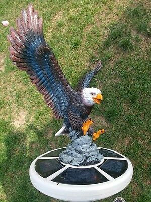 Flagpole Eagle on Approach Topper Finial Ball Hand Painted USA Real / Lifelike