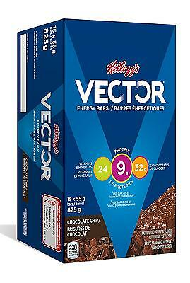 Kellogg s Vector Chocolate Chip Energy Bars, 15x55 gram, 825g box