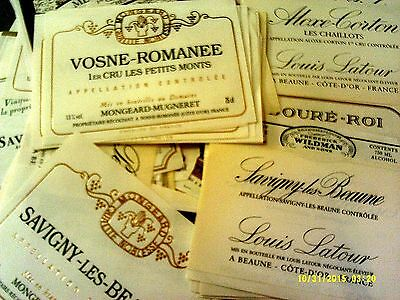 140 different from BOURGOGNE AOCs Lot C-15 (see list)