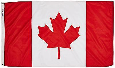Canada Flag 3x5 ft. Nylon SolarGuard Nyl Glo 100 Made in USA to Official...