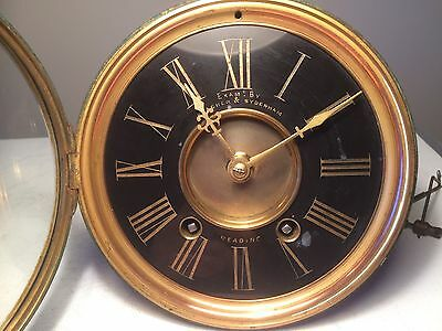 Antique French Clock Striking Movement &  Dial + Rear Window For Spares/repair
