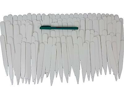 Bosmere Garden Helpers H166 6 Inch Plastic Plant Labels and Marker Pen, 100 Pack