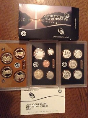 2015  United States Mint Silver Proof Set in OGP with COA