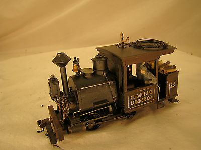 Logging Steam Engine Switcher - DCC and Sound - custom weathered - On30 scale