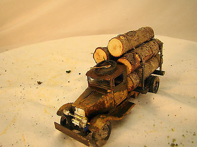 Historic Logging Truck - custom weathered - O or On30 scale - lot 6
