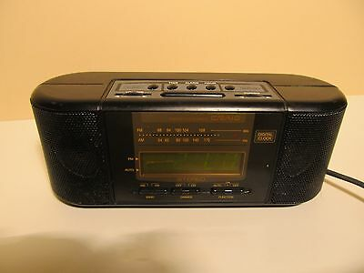 Vintage stereo AM/FM radio with alarm clock CRAIG CR 5032 (ref 0266)
