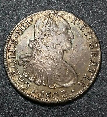 1803 F.T☆Mexico☆ 8 Reales American Colony Silver Coin ☆Pillar Piece of Eight