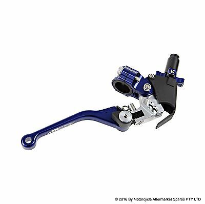 STATES MX CLUTCH LEVER and PERCH FOLD FLEX BLUE for HONDA CR85RB 2003 to 2007