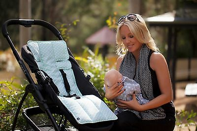PRAM LINER OUTLOOKBABY  Mint Crosses COTTON UNIVERSAL quality gauranteed