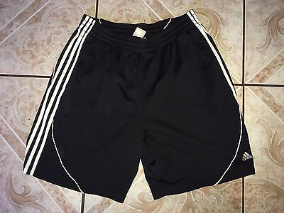 Men's Adidas Shorts Size L Large Black White Polyester Fitness Running Gym