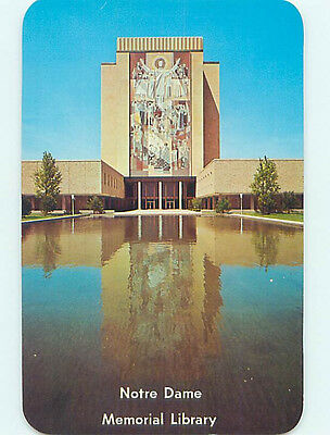 Unused Pre-1980 LIBRARY AT NOTRE DAME UNIVERSITY South Bend Indiana IN L7052