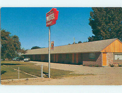 Unused Pre-1980 OLD CARS & WEEPING WILLOW MOTEL Shelley Idaho ID M0214