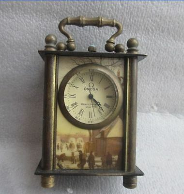 8.8 cm */Chinese ancient copper hand-carved can use mechanical clock timer